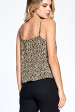 Natural Pattern Essential Tank - Black - Back