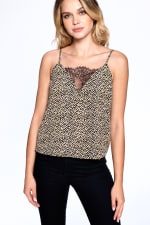 Natural Pattern Essential Tank - Black - Front