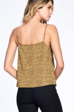 Natural Pattern Essential Tank - Mustard - Back