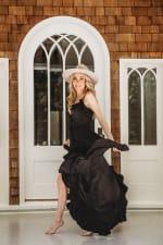 Juliette Dress in Black - Black - Front