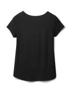 Leopard Mix Media Knit Top - Black - Back