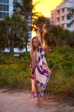 Goddess Kimono in Pink Tie-Dye - Pink - Front