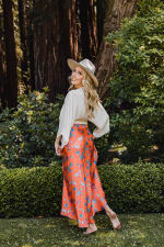 Maxi Skirt in Aix - Multi - Back