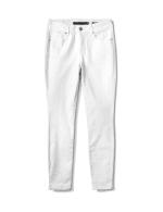 Mid Rise 5 Pocket Goddess Fit Solution Jeans - White - Front