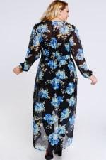 Steal the Looks Floral Dress - Black - Back