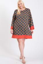 Patterned Free Style Dress - 1