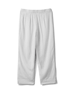 Drawstring  Waist Pull On Crop Pant With Pockets - White - Back