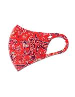 Summer Paisley Anti-Bacterial Fashion Face Mask - Orange - Detail