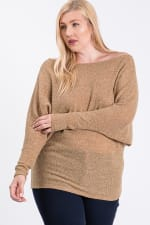 Lazy Day Knit Wide Top -  - Front