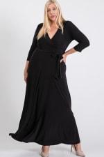 Ruffled With Love Wrap Maxi Dressd - Black - Back