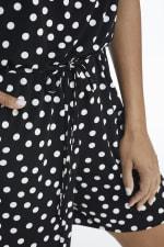 Suzette Short Jumpsuit - Black/White - Detail