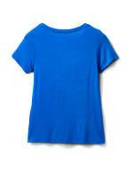 Rayon Span V-Neck Tee - Royal Blue - Back