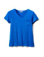 Rayon Span V-Neck Tee - Royal Blue - Front