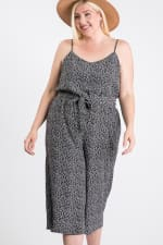 Welcome to Summer Floral Jumpsuit - Black - Front