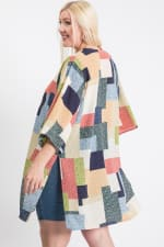 Different Styles Cardigan - Blue / Multi - Back