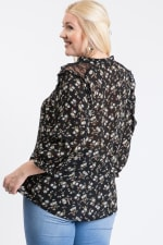 Ready To Go Lace Top - Black - Back