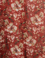 Floral Chiffon Flounce Hem Woven Kimono - 3