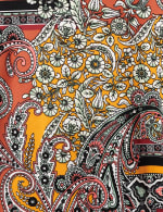 Patchwork Keyhole Tie Front Knit Top - Misses - 3