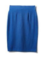 Faux Wrap Skirt with Buckle Trim - Indigo coast - Back
