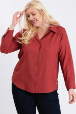 Collar Shirt - Terracotta - Front
