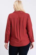 Collar Shirt - Terracotta - Back