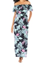 Caribbean Joe® Off The Shoulder Maxi Dress - Black - Detail