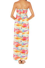 Caribbean Joe® Smocked Maxi Dress - Saffron - Back