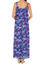 Caribbean Joe® Double Layer Maxi Dress - Blue - Back
