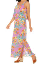 Caribbean Joe® Double Layer Maxi Dress - Pink - Detail