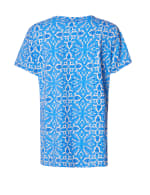 Caribbean Joe® Criss Cross Knit Top - Blue - Back