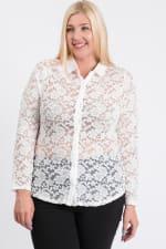 Lace Buttoned Blouse - 7