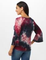 Westport Tie Dye Knit Top - Red/Black - Back