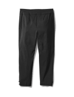 Solid Superstretch Capri Pant with Side Tab Rivets - Black - Back