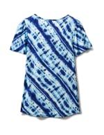 Bias Tie Dye Knot Front Knit Top - Misses - 2