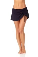 Anne Cole® Live in Color Sarong Swimsuit Skirt Bottom - Misses - Navy - Front