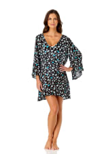 Anne Cole® Beautiful Bunches Tunic Swimsuit Cover-Up - Misses - Multi - Front