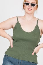 Every Mood Tank Top - Olive - Back