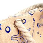 Under the Sea Summer Tote Bag - Light beige  - Detail