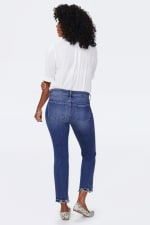 NYDJ Marilyn Ankle Jeans with Frayed Hem - ALTON CHEW HEM - Back
