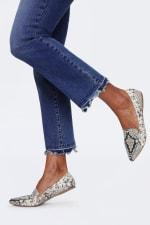 NYDJ Marilyn Ankle Jeans with Frayed Hem - ALTON CHEW HEM - Detail