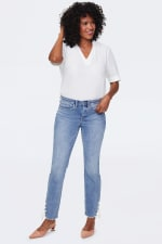 NYDJ Sheri Ankle Jeans with Laced Slits - 1