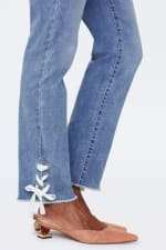 NYDJ Sheri Ankle Jeans with Laced Slits - 3