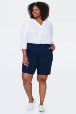 NYDJ Bermuda Shorts with 4 Pockets - Evening Tide - Front