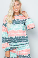 Tie Dye Pullover Top - 6