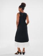 Color Block Maxi Dress - Black / White - Back