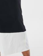 Color Block Maxi Dress - Black / White - Detail