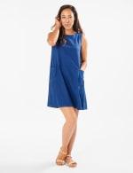 Marina Linen Trapeze Dress - 1