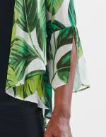 Leaf Print Jacket Dress - Green Multi - Detail