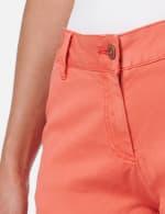 Fly Front Slash Pocket Short with Fray Hem - Watermelon - Detail