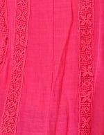 Crochet Trim Flutter Sleeve Textured Woven Top - 4